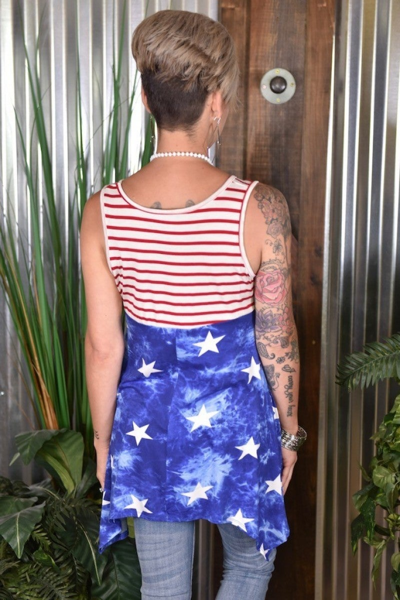 CLEARANCE Stars & Stripes Tunic
