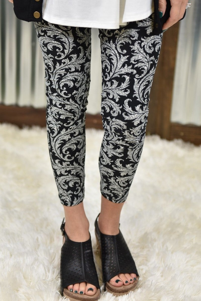 Damask Yoga Leggings