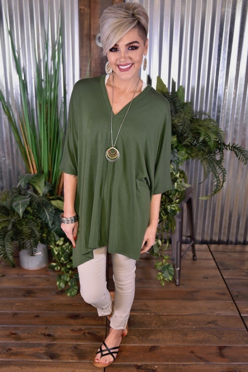 Army Green Oversized Poncho