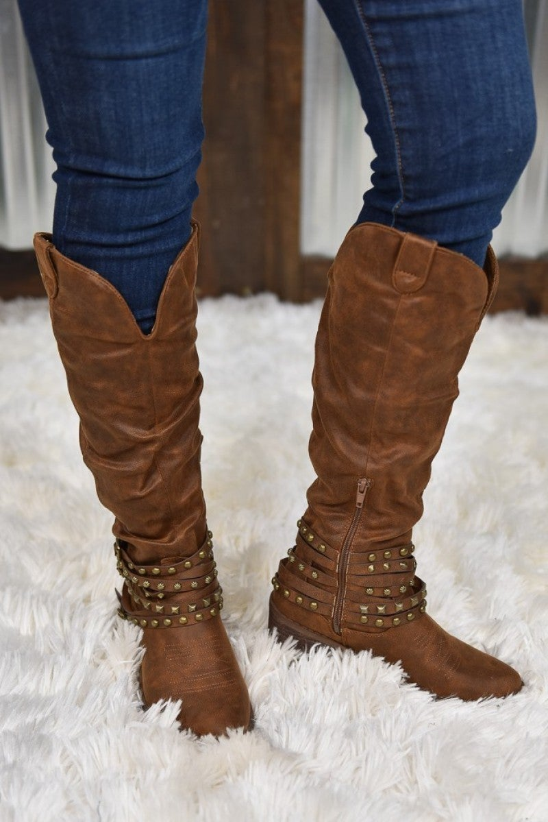 Tan Dixie Tall Boot