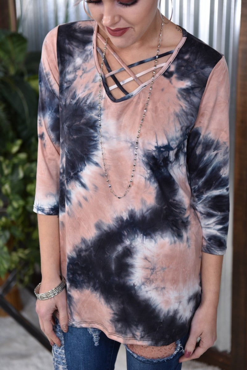 Criss Cross Tye Dye Top