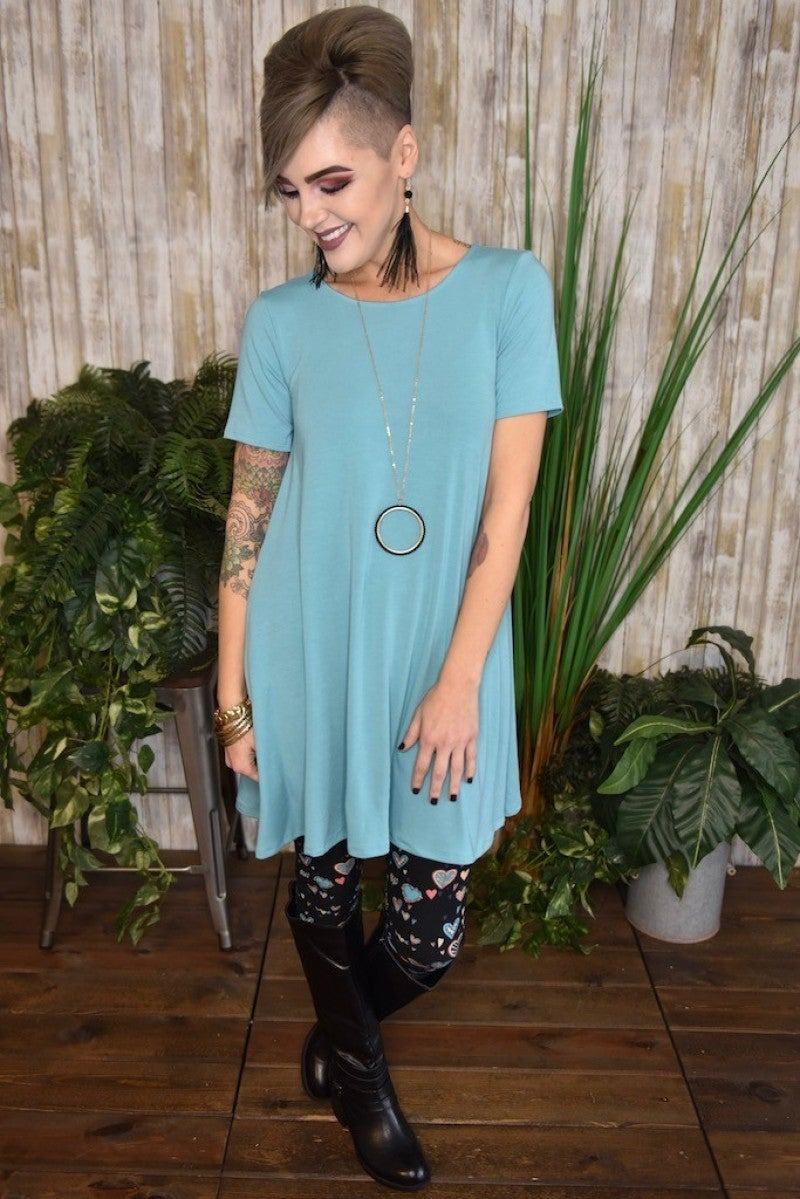Ash Mint Flared Top with Pockets
