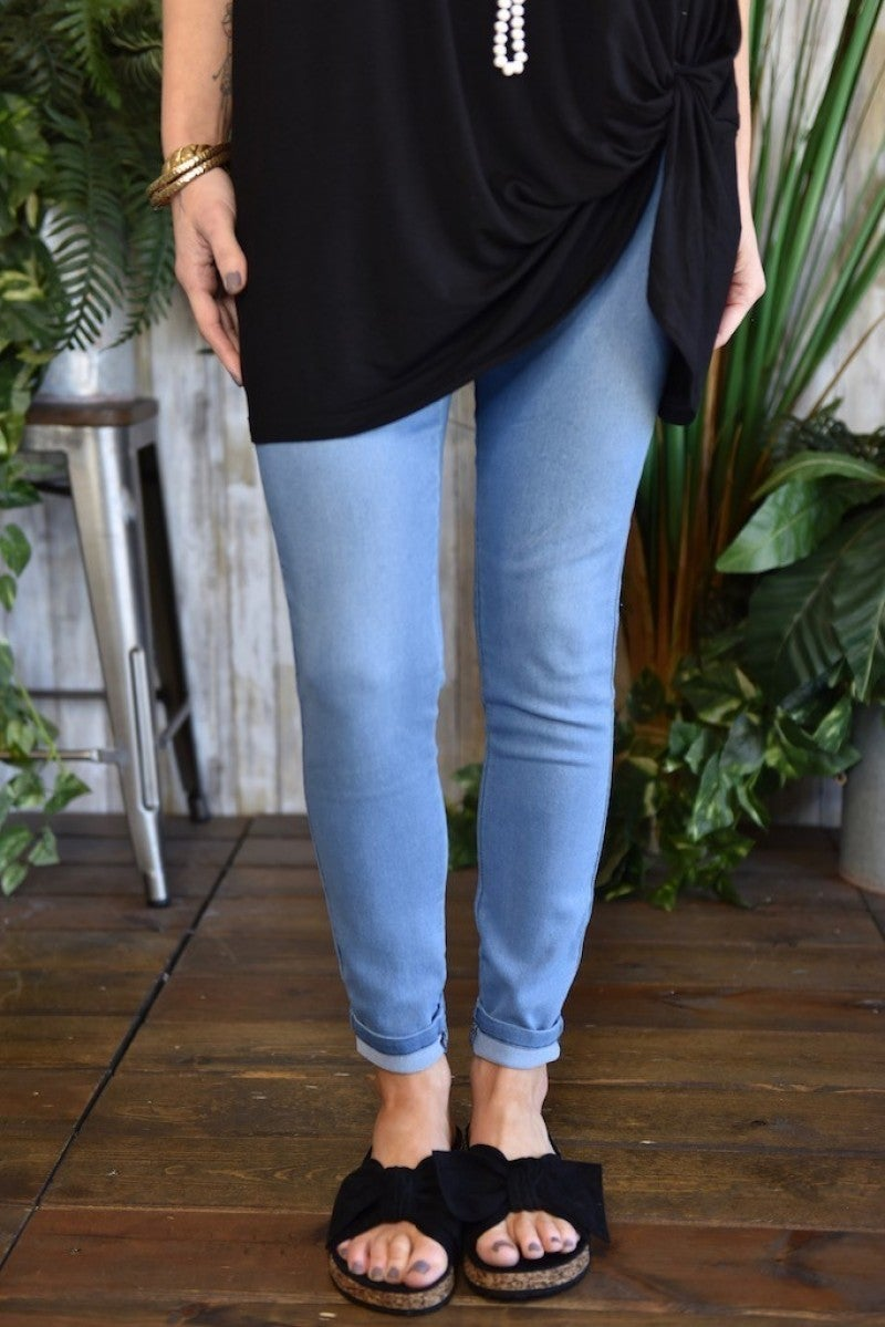 Light Wash Denim Jeggings