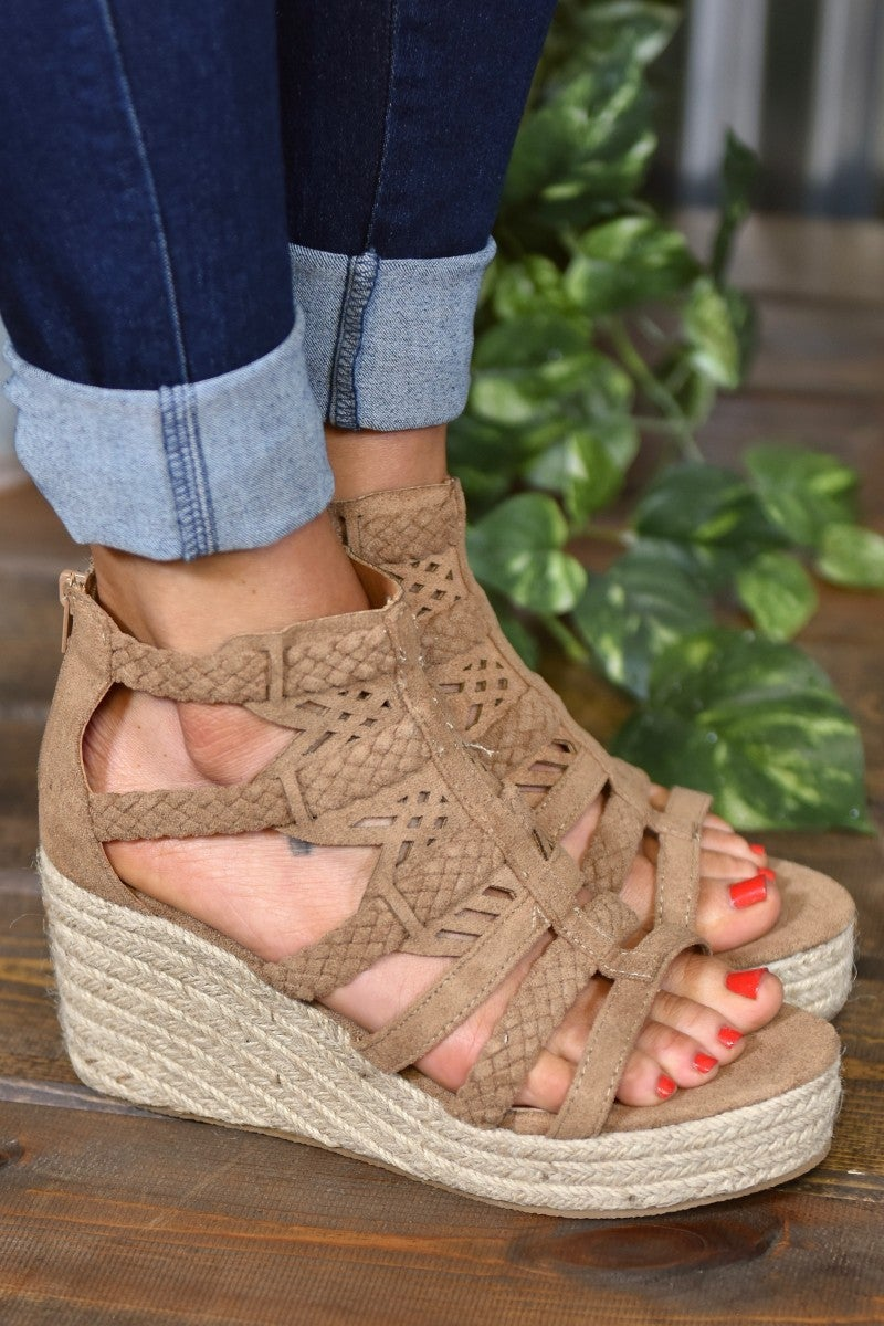 Taupe Spring Wedge