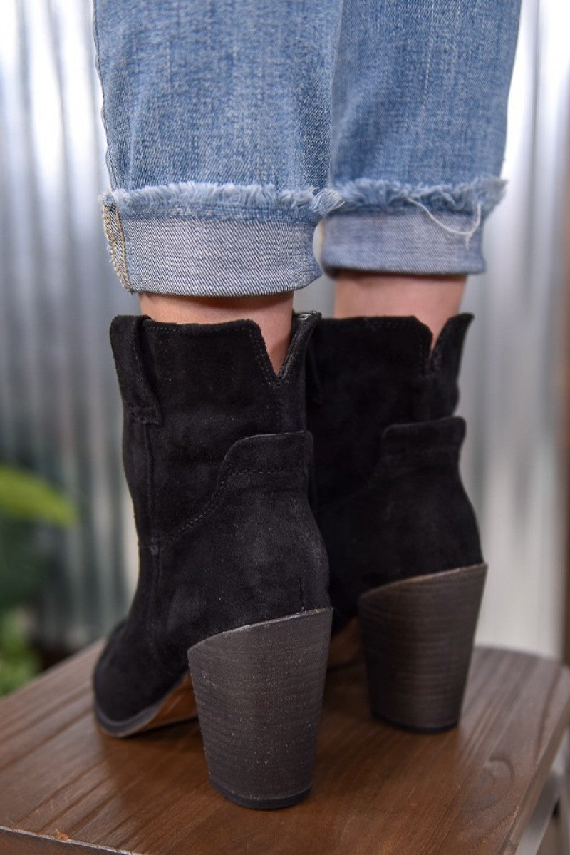 Black Rosie Short Boot