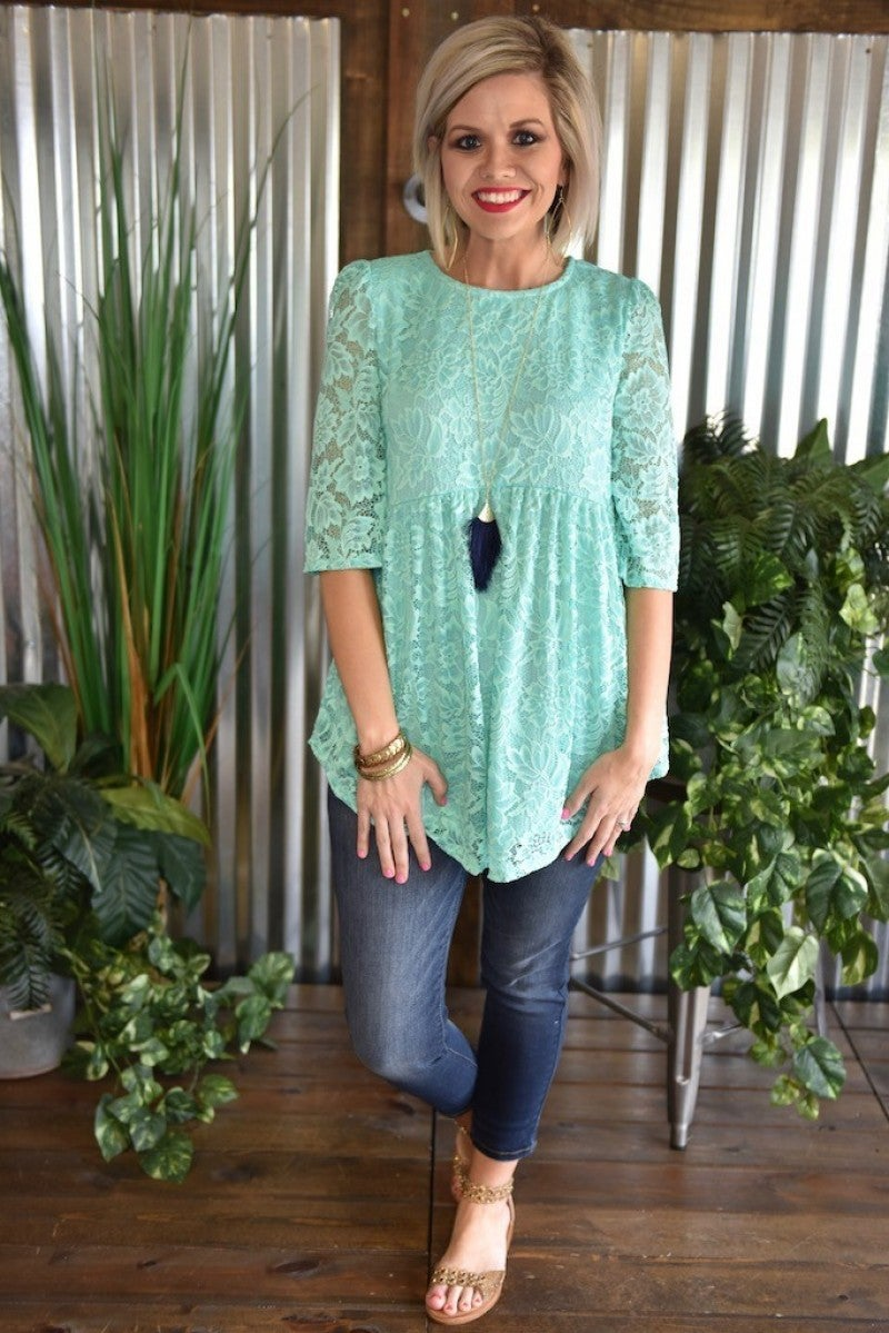 CLEARANCE Lace Babydoll Tunic