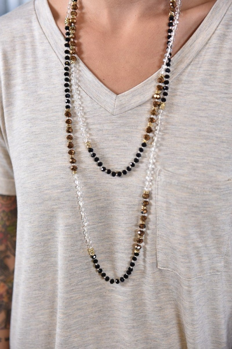Bronze Shimmering Beaded Necklace