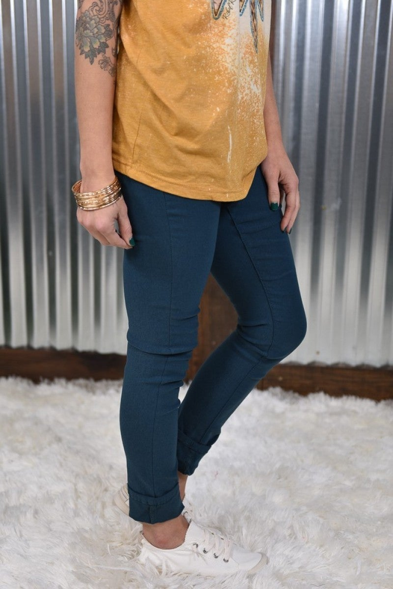 Peacock Hyperstretch Skinny Pants
