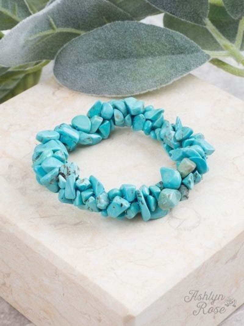 Turquoise Rock Steady Stretch Bracelet