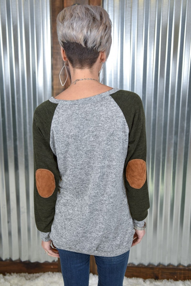 Elbow Patch Tunic