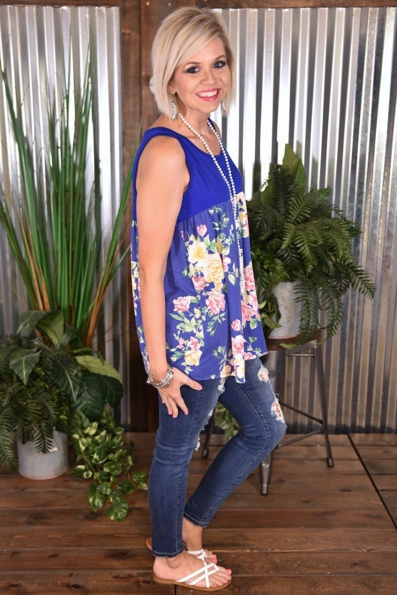 CLEARANCE Royal Floral Empire Tank