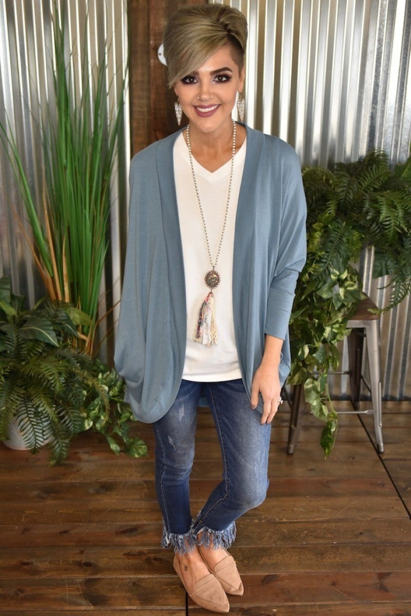 CLEARANCE 3/4 Sleeve Dolman Cardigan