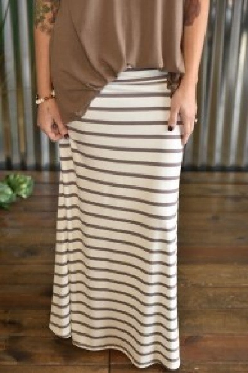 Coco Striped Maxi Skirt