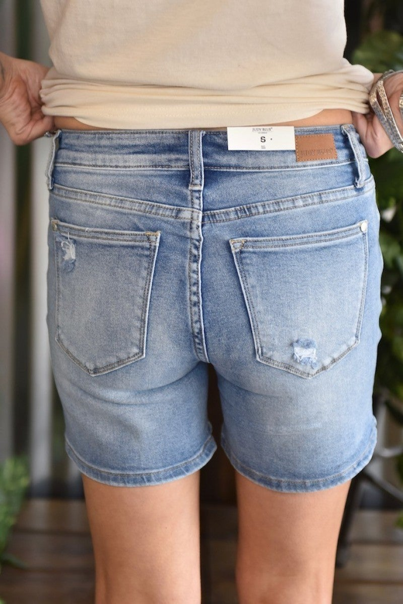 *FINAL SALE* Judy Blue Mid-Thigh Destroyed Shorts