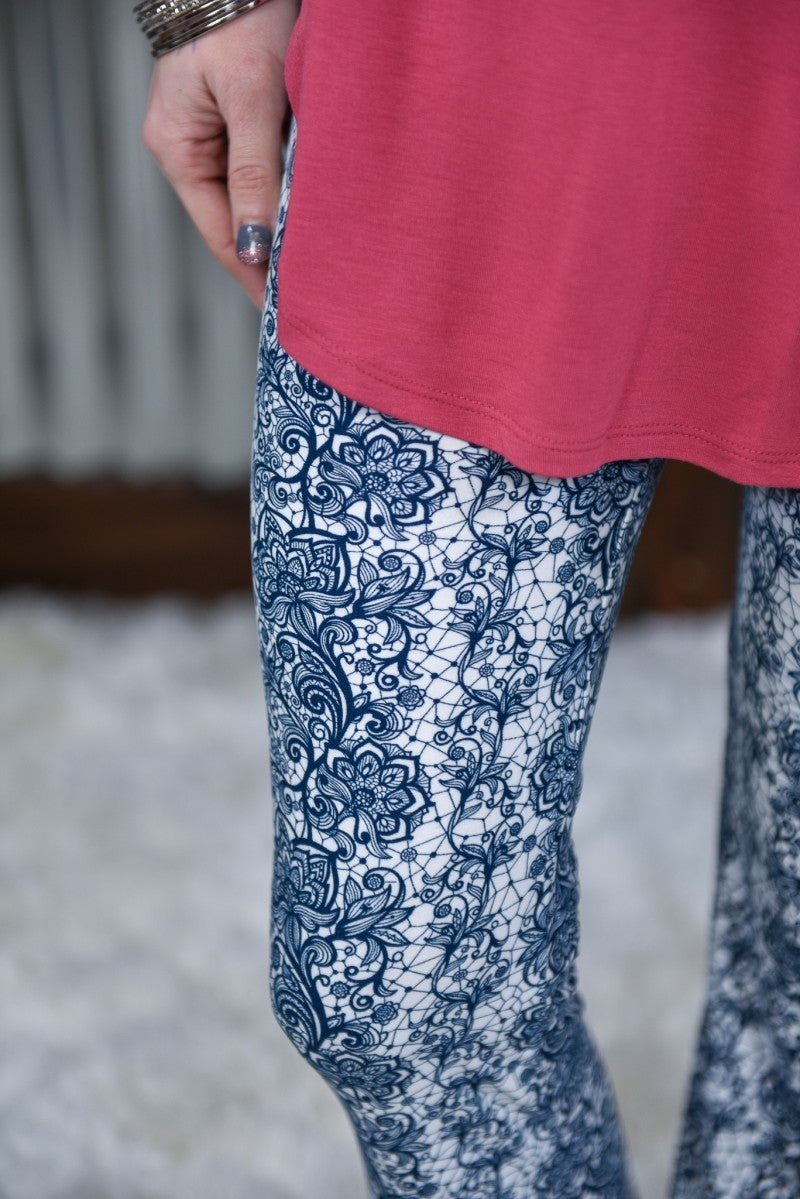 Floral Lace Palazzo Pants