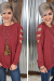 Burgundy Cut Out L/S Top