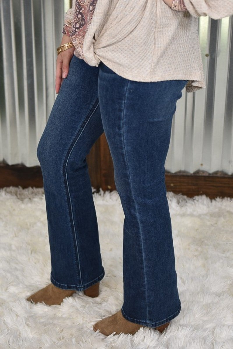 Kan Can Flat Front High Rise Bootcut Jeans