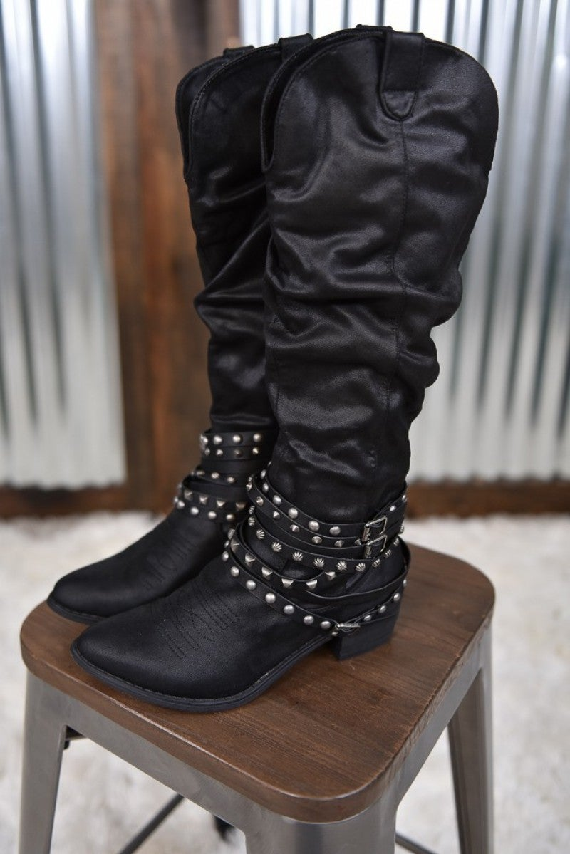 Black Dixie Tall Boot