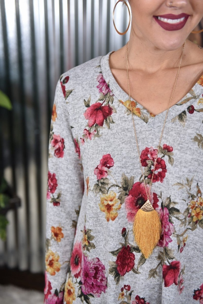 Ashley's Floral Print Top