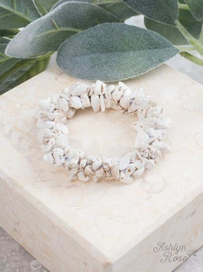 White Rock Steady Stretch Bracelet