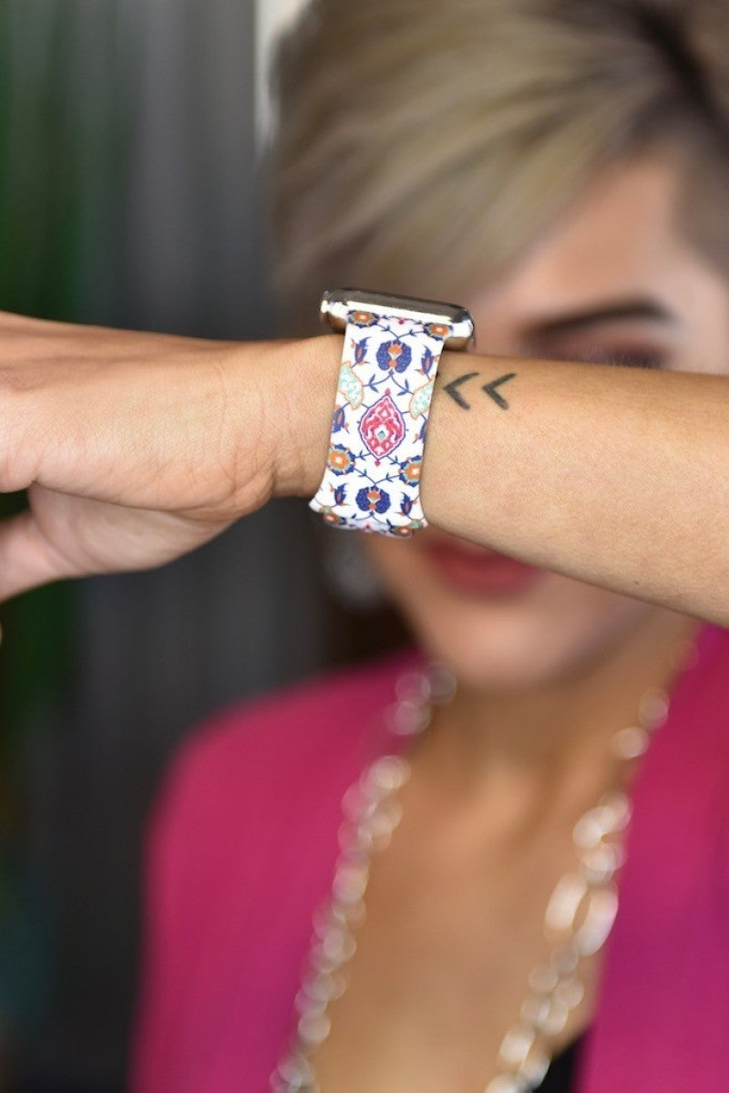 Floral Printed Watch Band