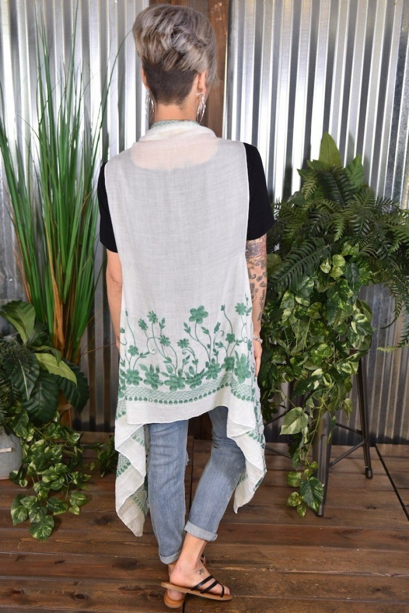 CLEARANCE Charlotte's Floral Embroidered Vest