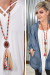 Red Bling Fabric Tassel Necklace