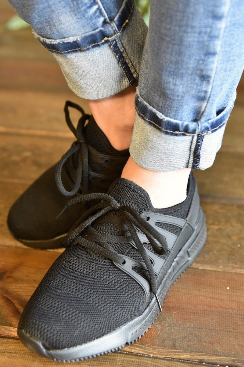 CLEARANCE Black Dash Sneakers