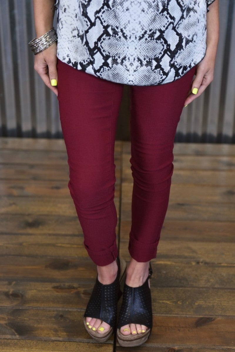 Garnet Hyperstretch Skinny Pants