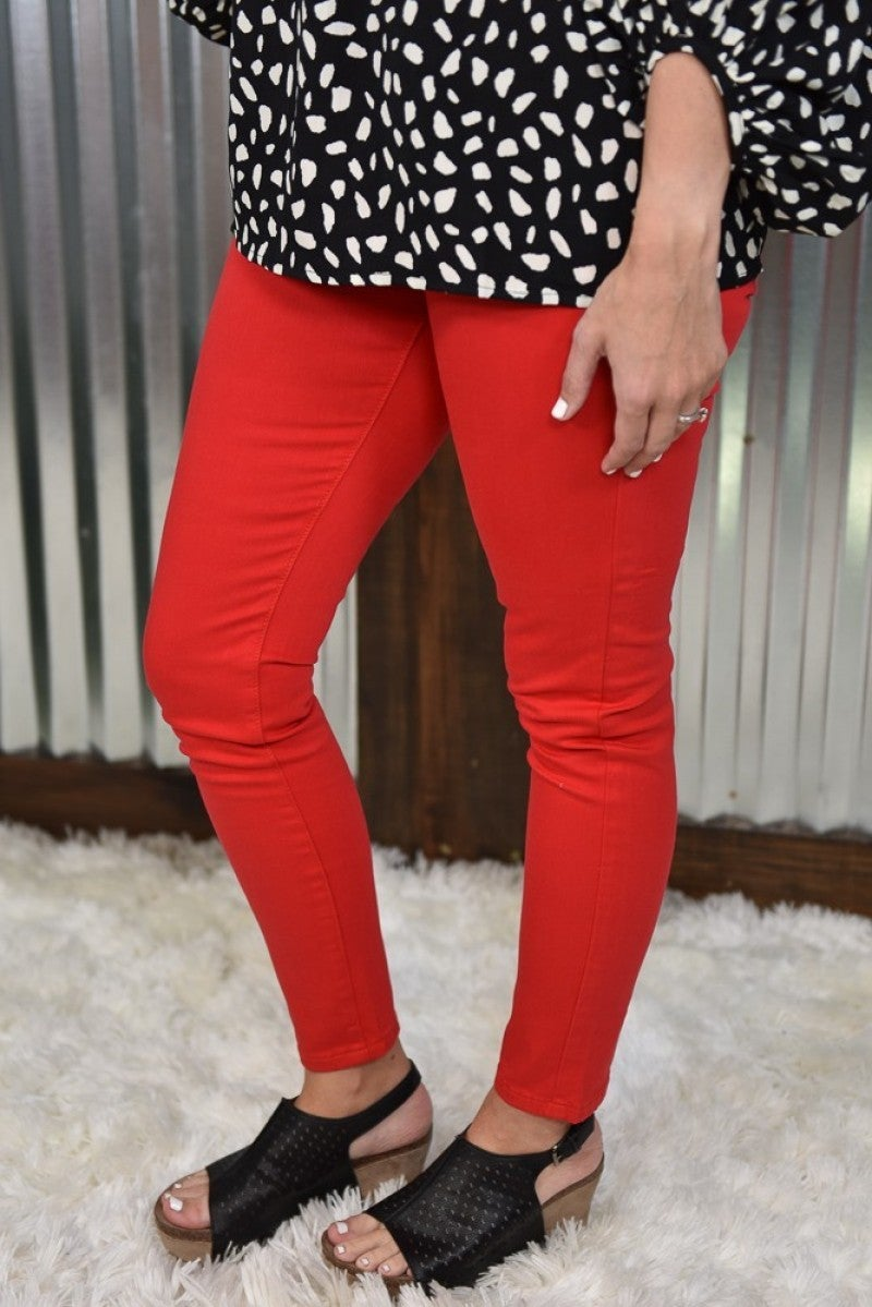 Judy Blue Red Skinny Jeans