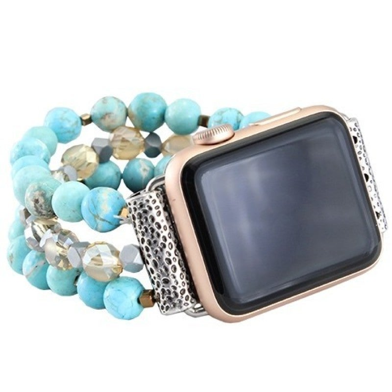 Turquoise Beaded 38 MM Watch Band
