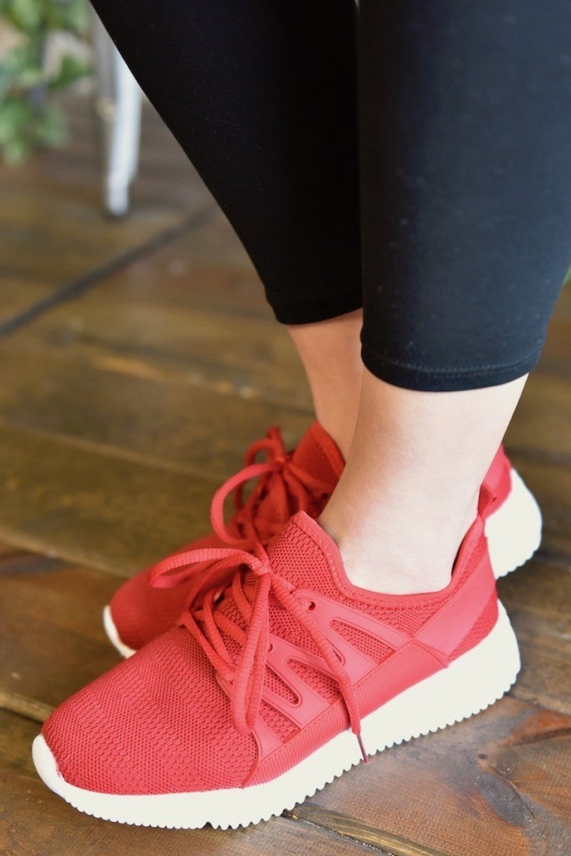 CLEARANCE Red Dash Sneakers