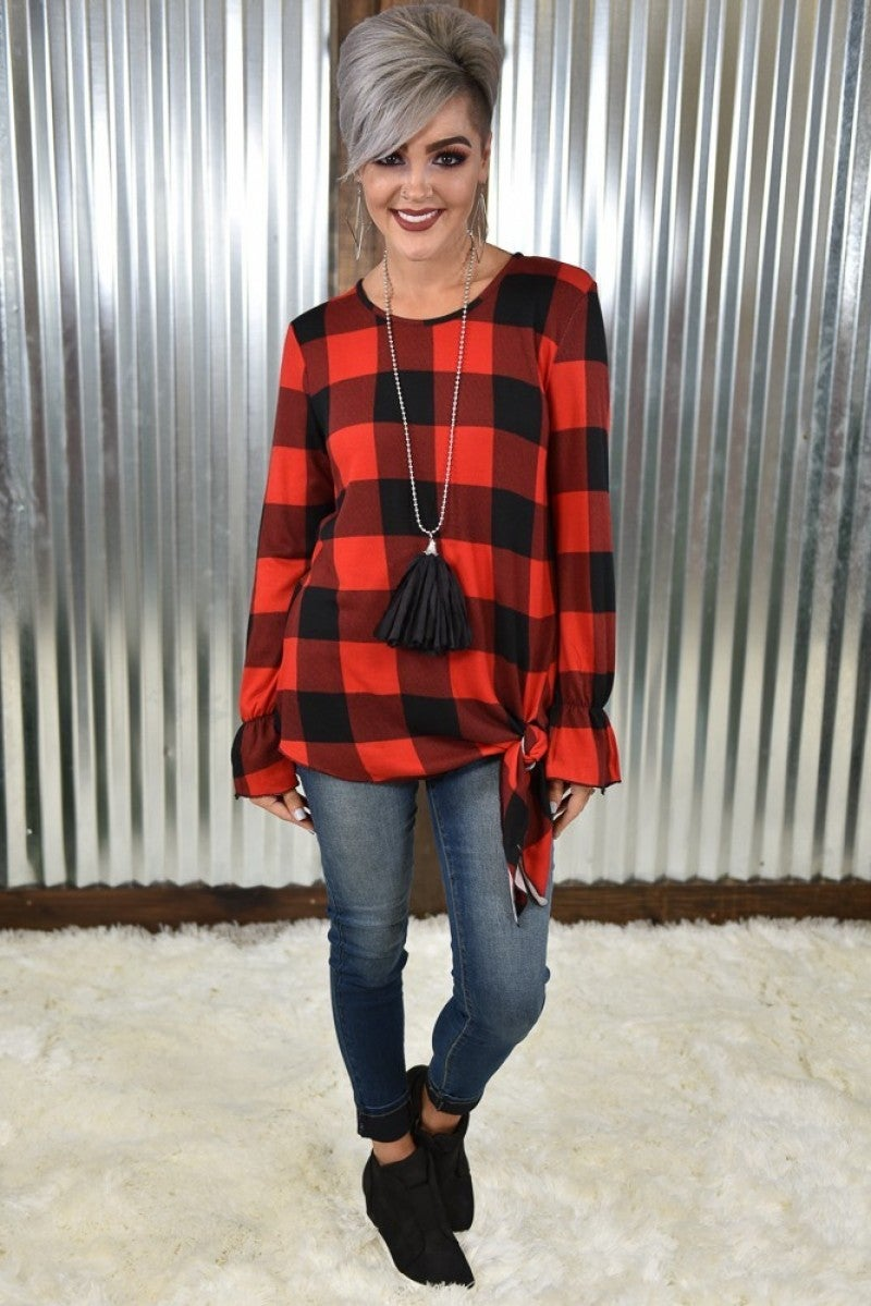 The Best of the Best Buffalo Plaid Top