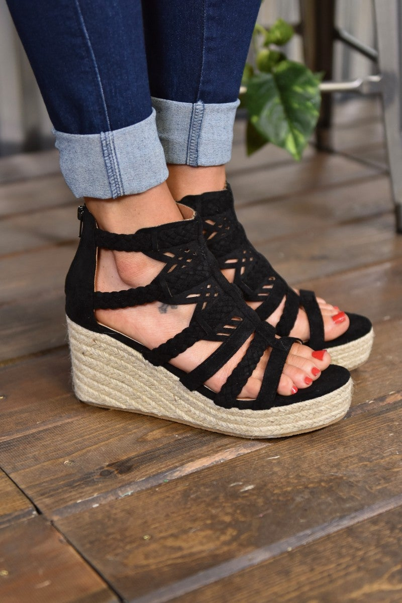 CLEARANCE Black Spring Wedge