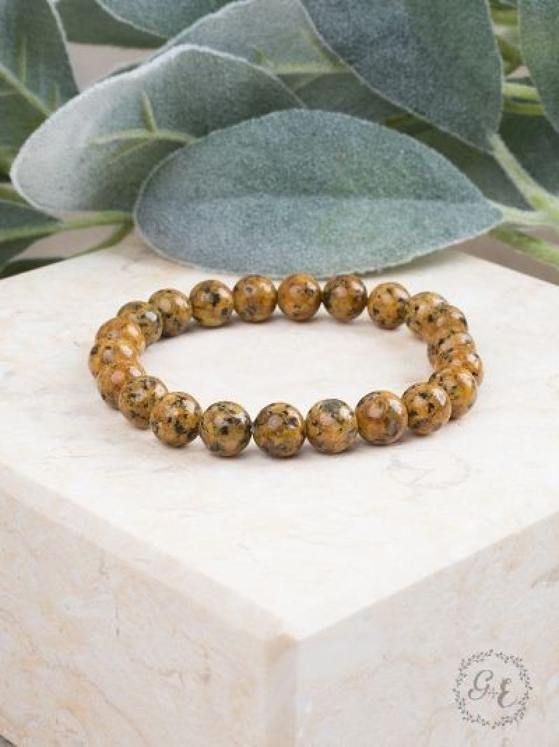 Yellow Stone Beaded Bracelet