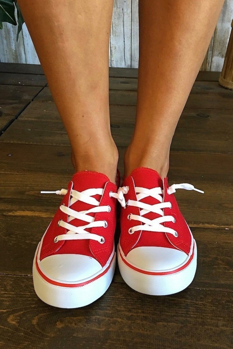 CLEARANCE Red Sporty Sneakers