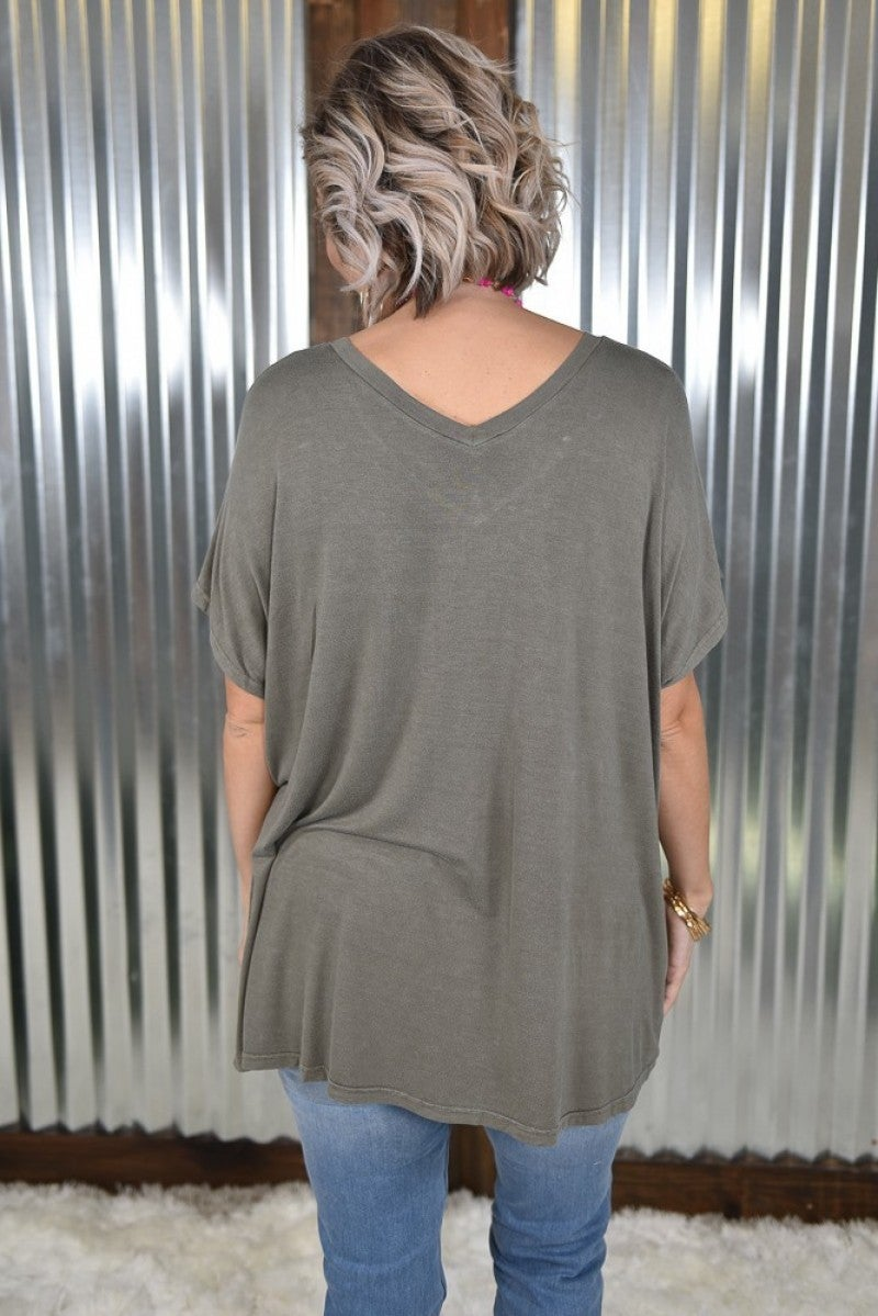 Ash Laced Up Washed Tee