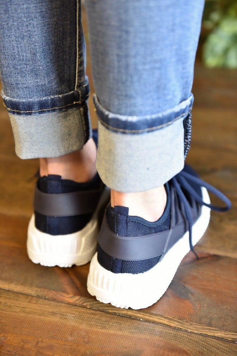 Navy Dash Sneakers