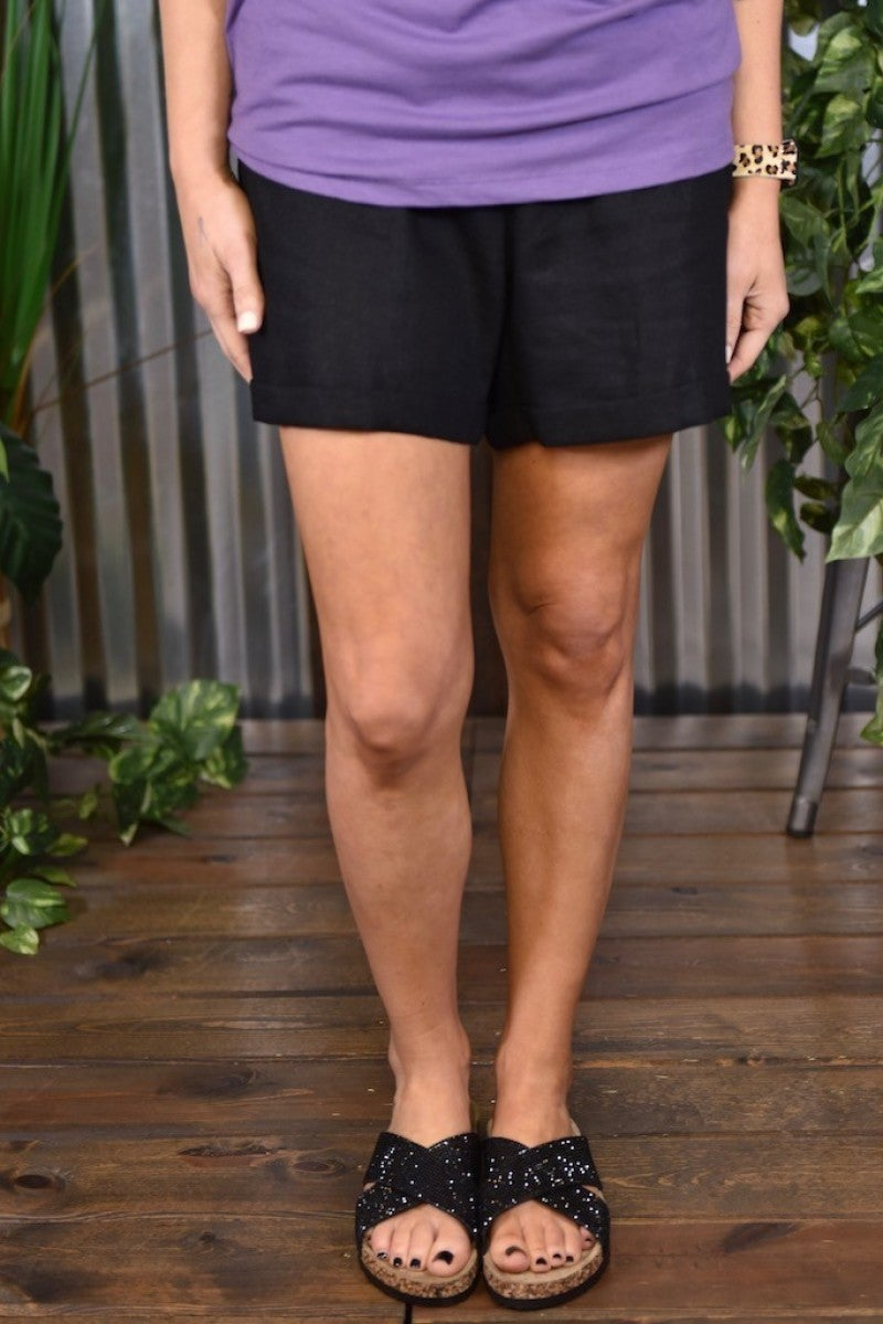*FINAL SALE* Black Linen Shorts