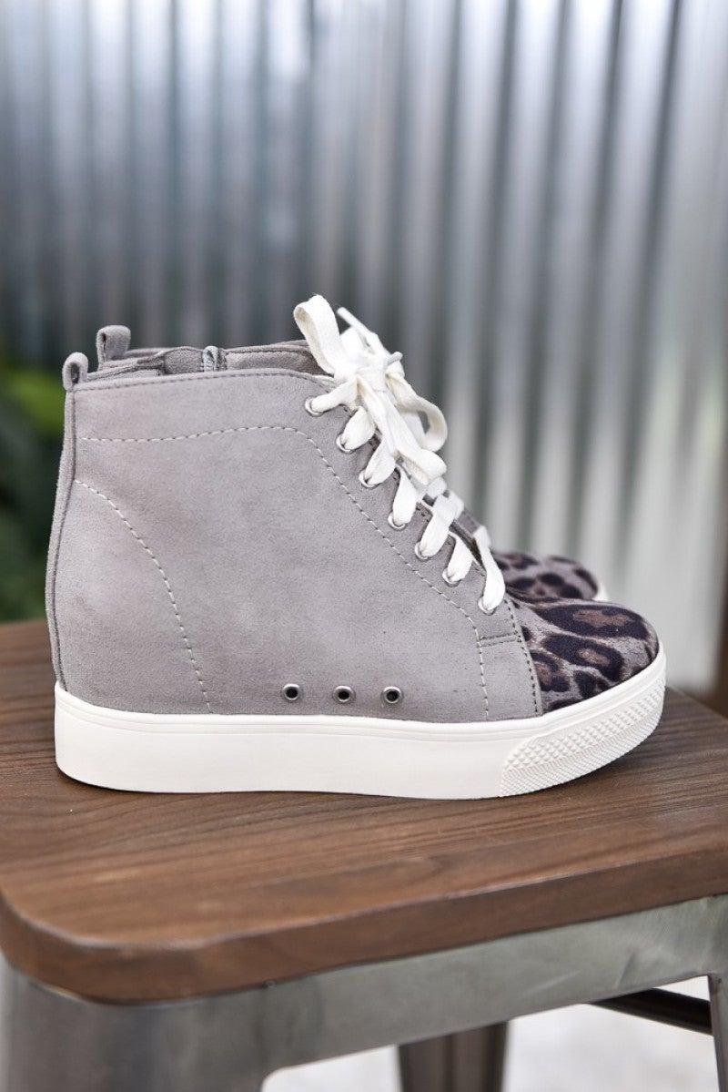 Grey Lets Go Crazy Sneaker
