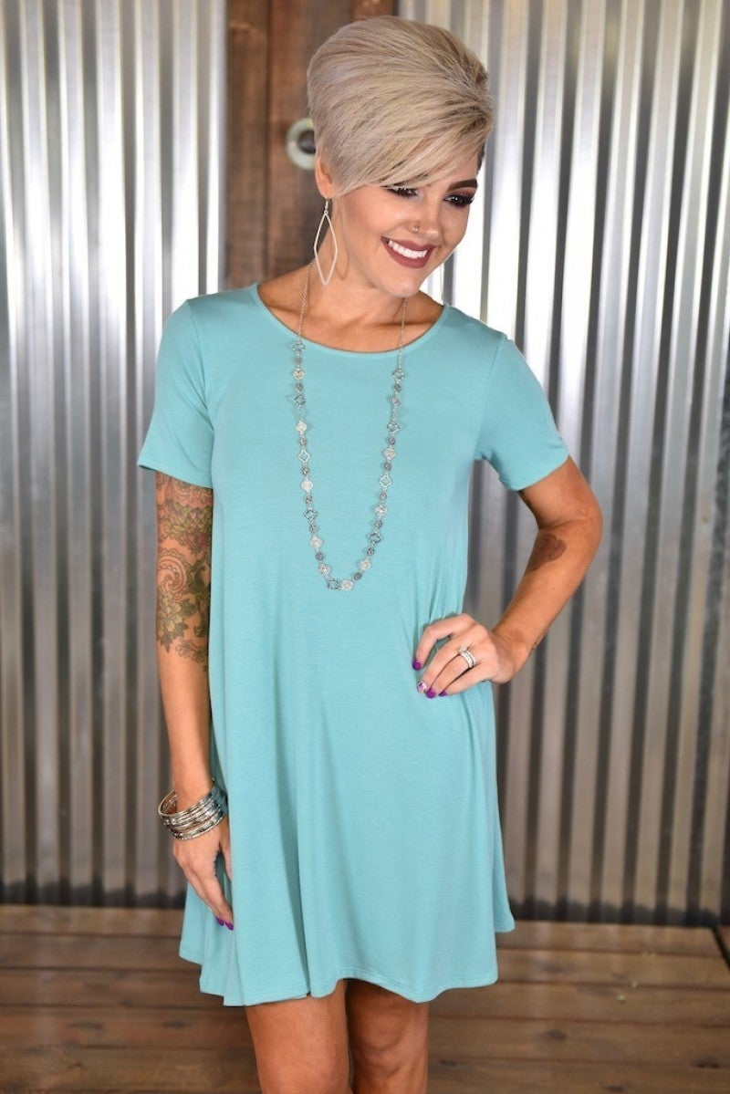 CLEARANCE Ash Mint Flared Top with Pockets